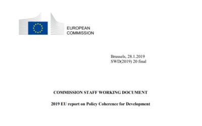 Coerência das Políticas para o Desenvolvimento: Relatório da CE