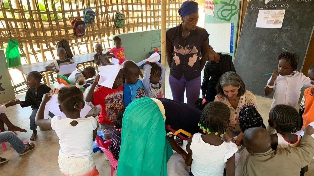Representante da FEC na Guiné-Bissau visita o Jardim de Infância de Caúr