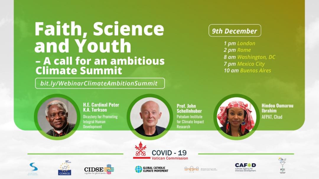 """Webinar """"Fé, Ciência e Juventude: um apelo para uma cimeira climática ambiciosa"""""""