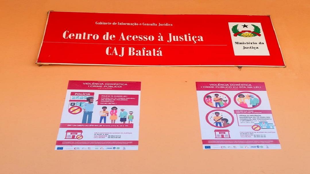 Cartazes na Guiné-Bissau divulgam Violência Doméstica como crime