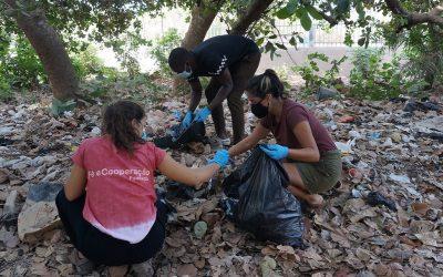 Campanha de limpeza no Jardim Escola Inclusivo Bambaran